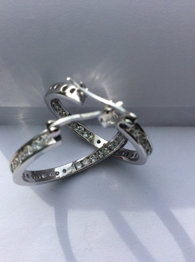 Unknown Silver and crystal hoops Image 10