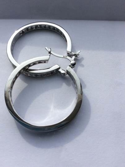 Unknown Silver and crystal hoops Image 11