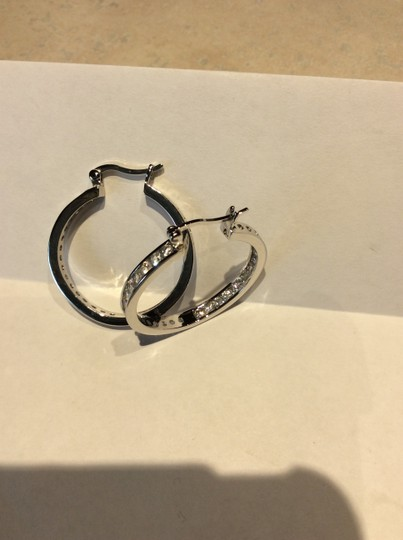 Unknown Silver and crystal hoops Image 7