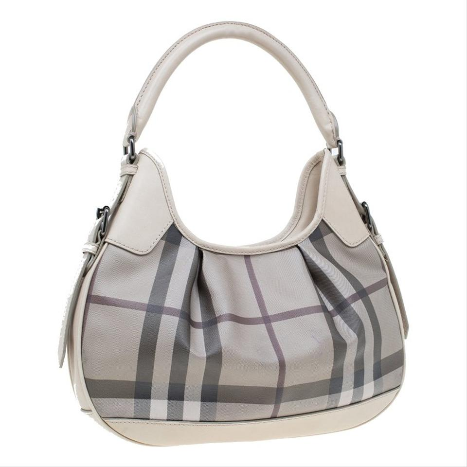 f6693159d3a4 Burberry Nova Check Small Brooklyn Grey Coated Canvas and Leather ...