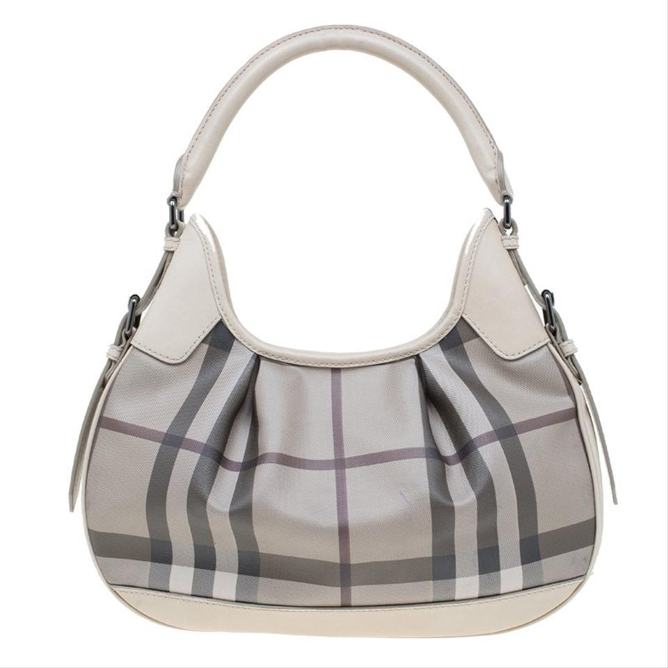 e010076839 Burberry Nova Check Small Brooklyn Grey Coated Canvas and Leather ...