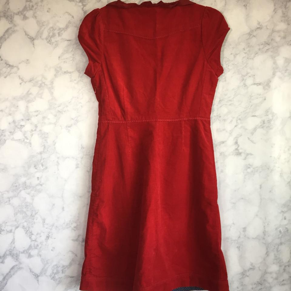 b6f58f36ca120 Anthropologie Red Maeve Corduroy Button Down Work/Office Dress Size 2 (XS)  - Tradesy