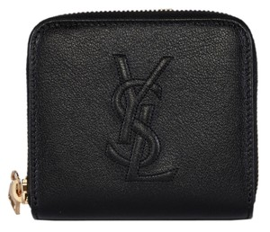 Saint Laurent New Saint Laurent YSL Black Leather Belle de Jour Zip Around Wallet