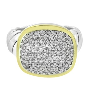 David Yurman David Yurman 18K Gold Noblesse 0.90ct Pave Diamond Ring