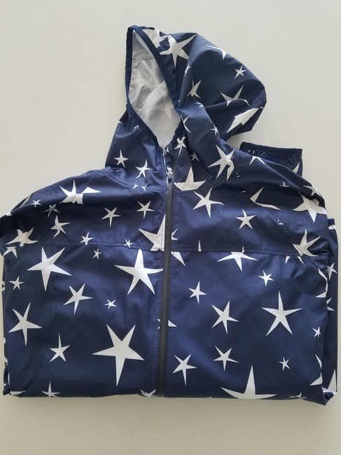 J.Crew Balance Windbreaker Athletic Fashion Star Print Jacket Image 2