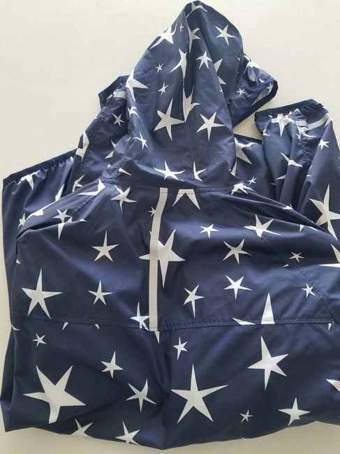 J.Crew Balance Windbreaker Athletic Fashion Star Print Jacket Image 4