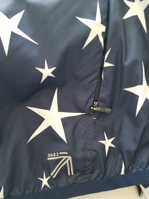 J.Crew Balance Windbreaker Athletic Fashion Star Print Jacket Image 6