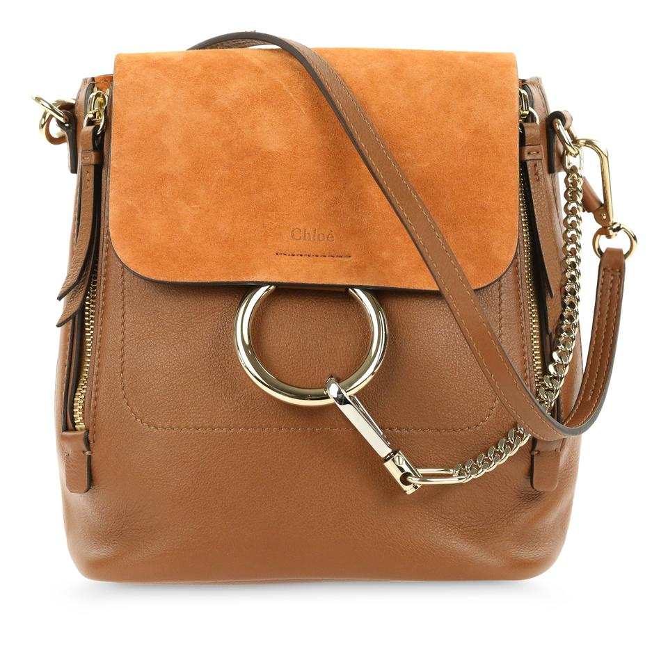 Chloé Faye Small Tan Brown Leather Backpack - Tradesy f9be140045229