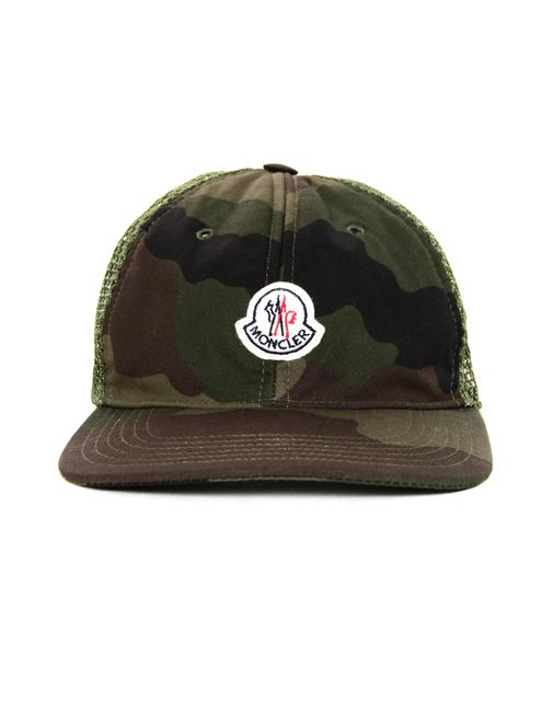 Item - Brown/Green Camouflage Woven Baseball Cap Hat
