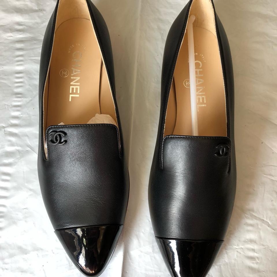 1dc66e376eb Chanel Black Mocassins  Loafers G34199 Y15747 In Lambskin  Patent ...