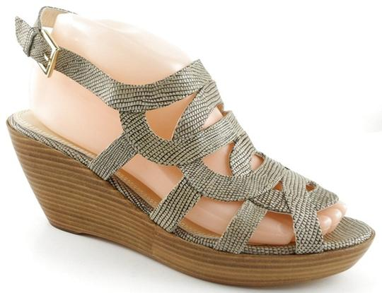 REBECCA MINKOFF Leather Wedges Washed Lizard Sandals Image 1