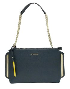 on sale b627f eab85 Cromia Evening Blue Leather Shoulder Bag 70% off retail
