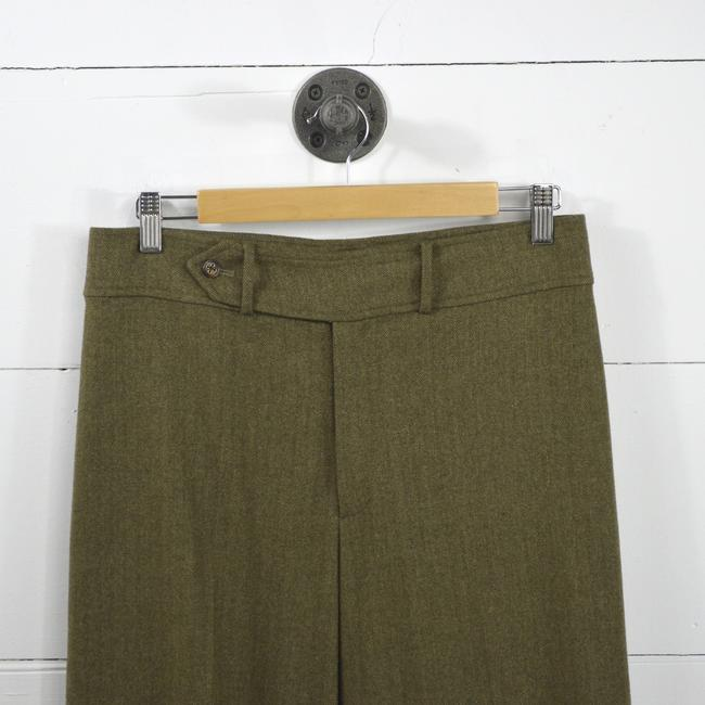 Ralph Lauren Fall Winter Holiday Night Out Date Night Trouser Pants GREEN Image 1