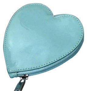 Tiffany & Co. Coin Purse / Wallet Patent Leather Blue w/Silver Lining New w/Packaging