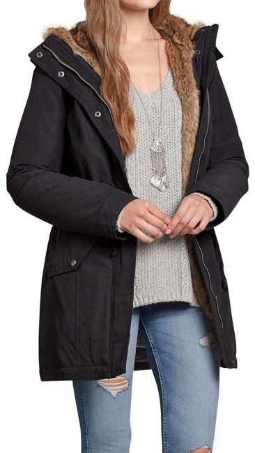 Preload https://img-static.tradesy.com/item/24606849/hollister-black-heritage-faux-lined-parka-coat-size-12-l-0-1-650-650.jpg