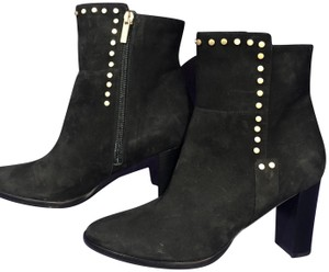 Jimmy Choo Suede Studded Black Boots