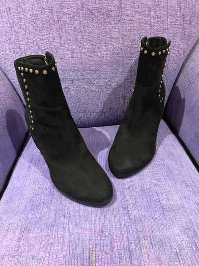 Jimmy Choo Suede Studded Black Boots Image 4