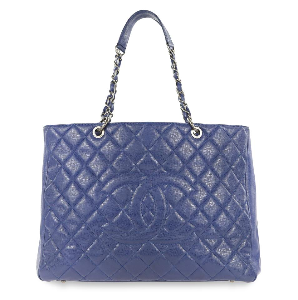 f9082502a30 Chanel Xl Shopping Blue Leather Tote - Tradesy