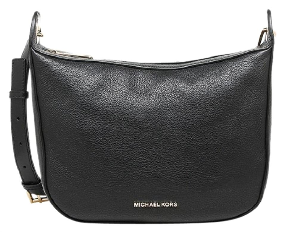 e5001dc3c6ad Michael Kors Raven Medium Black Leather Messenger Bag - Tradesy