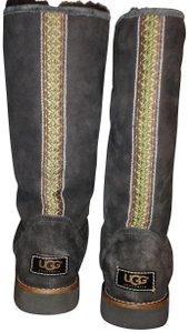 Ugg Elissa Shearling Suede Braided Brown Boots