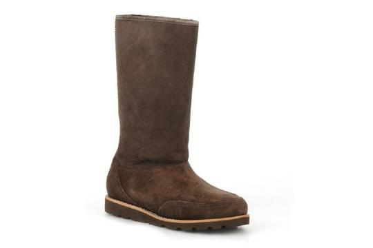 Ugg Elissa Shearling Suede Braided Brown Boots Image 2