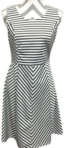 Pixley short dress Black & White Stripes Sleeveless Fit And Flare on Tradesy