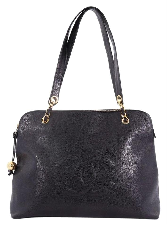 4e9a3f98e46f Chanel Vintage Timeless Zip Caviar Large Black Leather Tote - Tradesy