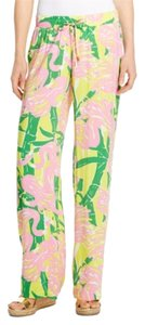 Lilly Pulitzer for Target Beach Baggy Pants Fan Dance (pink and green)