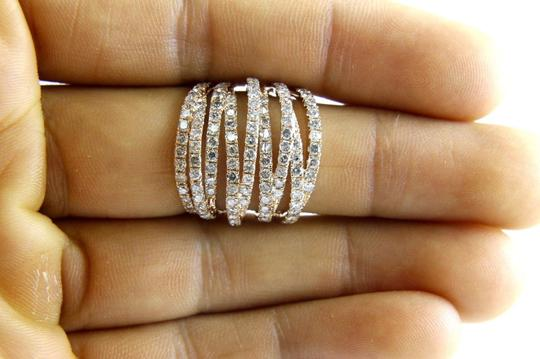 Other Bypass Criss Cross Diamond Lady's Ring Band 14k Rose Gold 3.00Ct Image 3