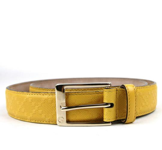 Gucci Diamante Leather Square Buckle Belt Yellow 95/38 345658 7011 Image 3
