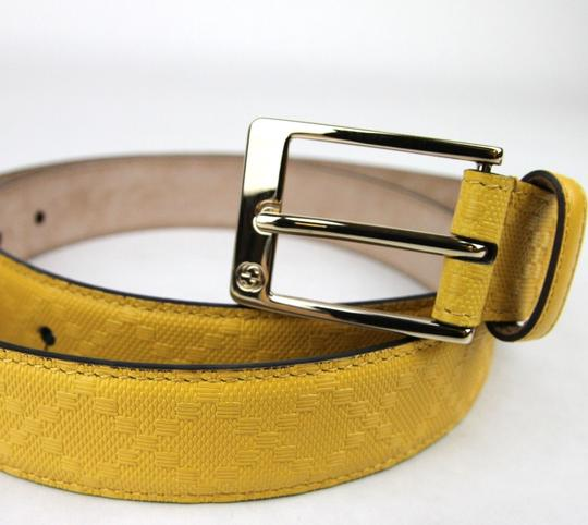 Gucci Diamante Leather Square Buckle Belt Yellow 95/38 345658 7011 Image 4
