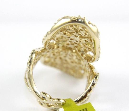 Other Long Round Diamond Filigree Lady's Ring Band 14k Yellow Gold 3.76Ct Image 7
