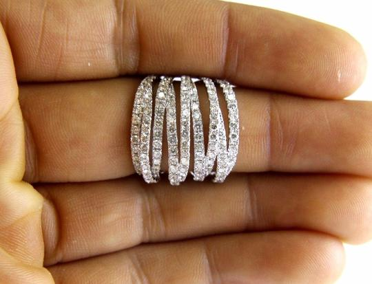 Other Bypass Criss Cross Diamond Lady's Ring Band 14k White Gold 3.00Ct Image 2