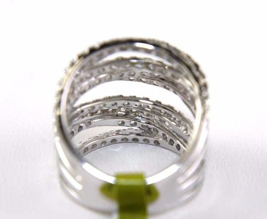 Other Bypass Criss Cross Diamond Lady's Ring Band 14k White Gold 3.00Ct Image 6