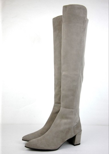 Stuart Weitzman Suede Allwayhunk Over-the-knee Taupe Boots Image 1