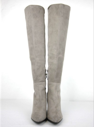 Stuart Weitzman Suede Allwayhunk Over-the-knee Taupe Boots Image 2