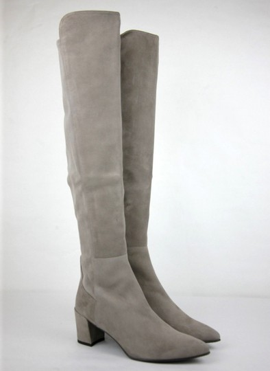 Stuart Weitzman Suede Allwayhunk Over-the-knee Taupe Boots Image 3