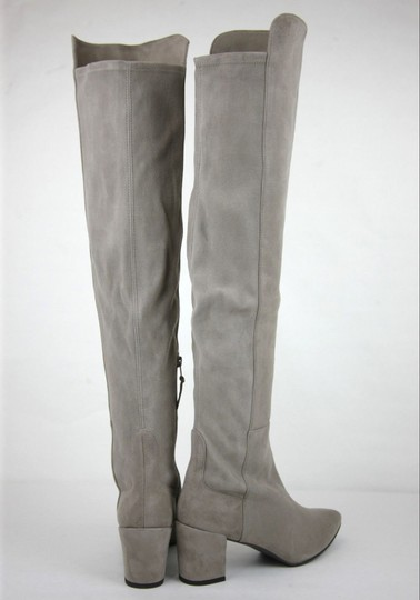 Stuart Weitzman Suede Allwayhunk Over-the-knee Taupe Boots Image 4