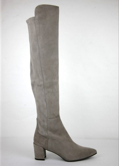 Stuart Weitzman Suede Allwayhunk Over-the-knee Taupe Boots Image 5