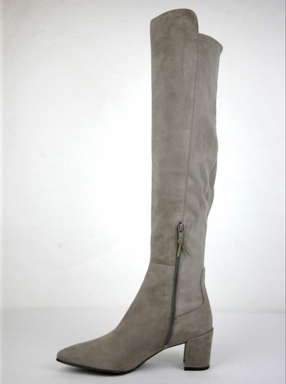 Stuart Weitzman Suede Allwayhunk Over-the-knee Taupe Boots Image 6
