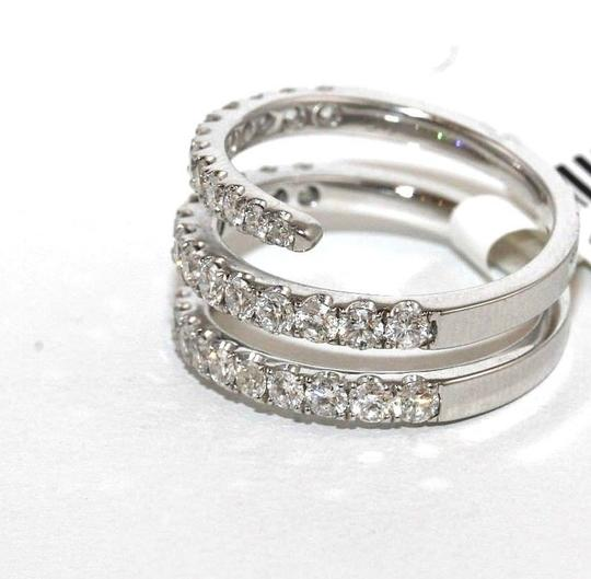 Other Bypass Round Diamond Cluster Pave Ring Band 18k White Gold 1.53Ct Image 2
