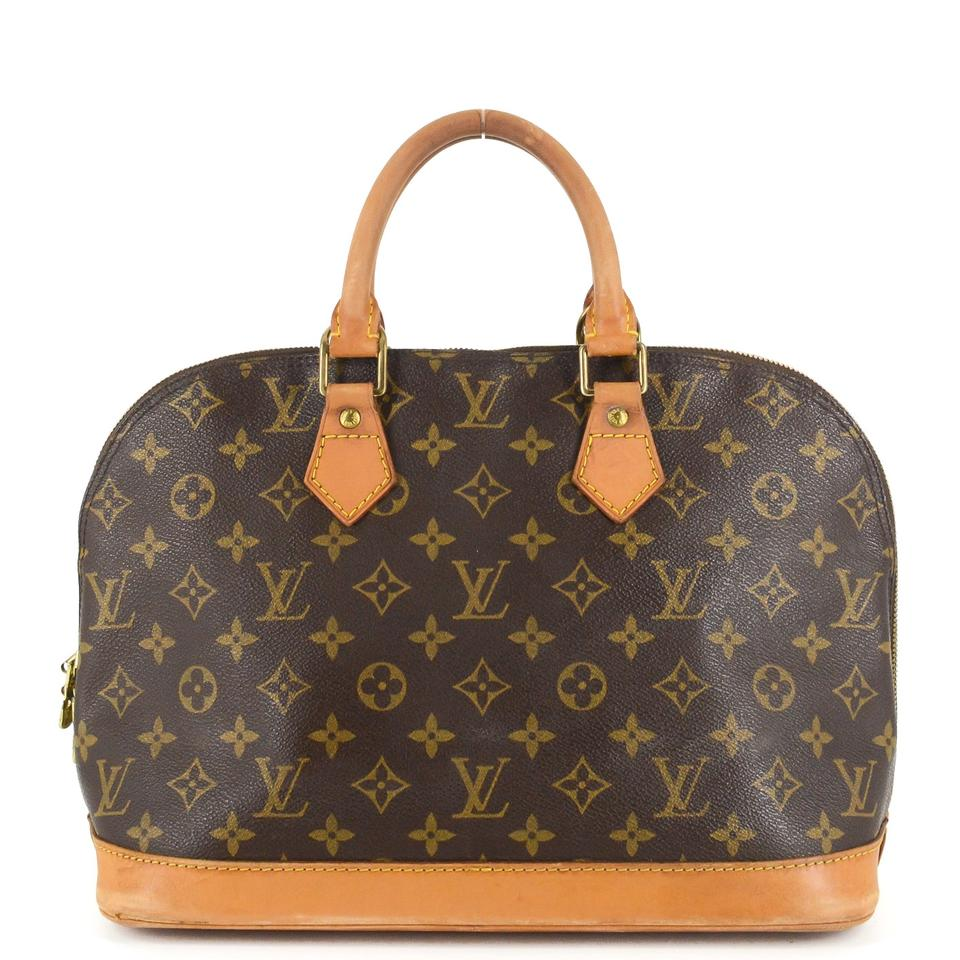 19d0ff1773a2 Louis Vuitton Monogram Canvas Leather Classic Satchel Image 0 ...