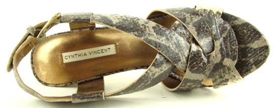 Twelfth St. by Cynthia Vincent Grey Multi Snake Sandals Image 2