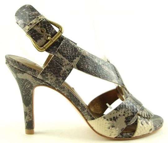 Twelfth St. by Cynthia Vincent Grey Multi Snake Sandals Image 1