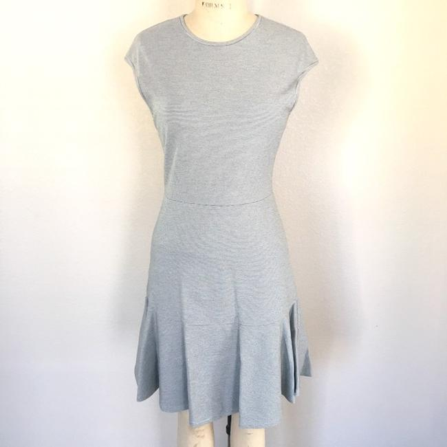 8f9d81b1aa635 Theory Gray Fit and Flare Ponte Short Casual Dress Size 10 (M) - Tradesy