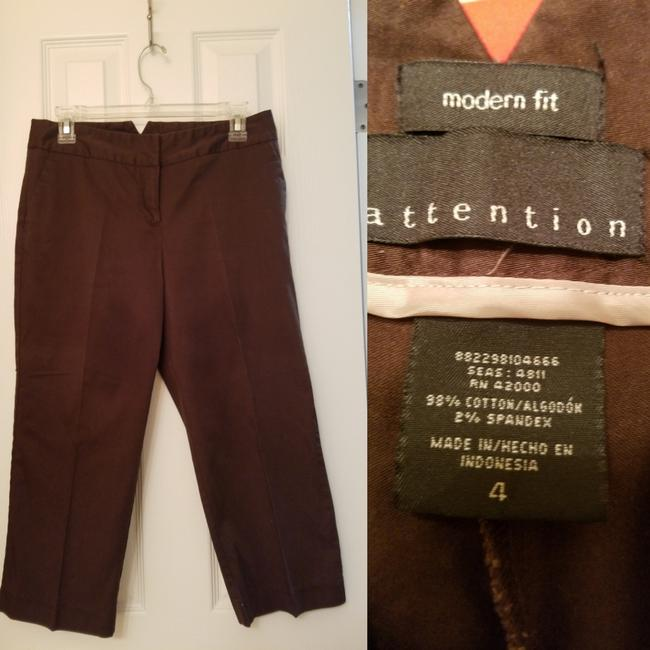 Preload https://img-static.tradesy.com/item/24607350/attention-brown-capris-size-4-s-27-0-0-650-650.jpg