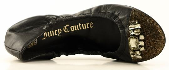 Juicy Couture Leather Round Toe Black Flats Image 2