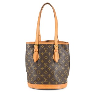 Louis Vuitton Classic Monogram Canvas Leather Unique Tote