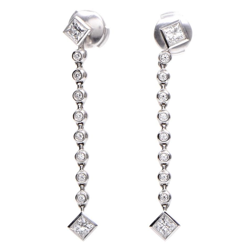 49e67cd68 Tiffany & Co. Tiffany Platinum Grace Diamond Drop Earrings Image 0 ...