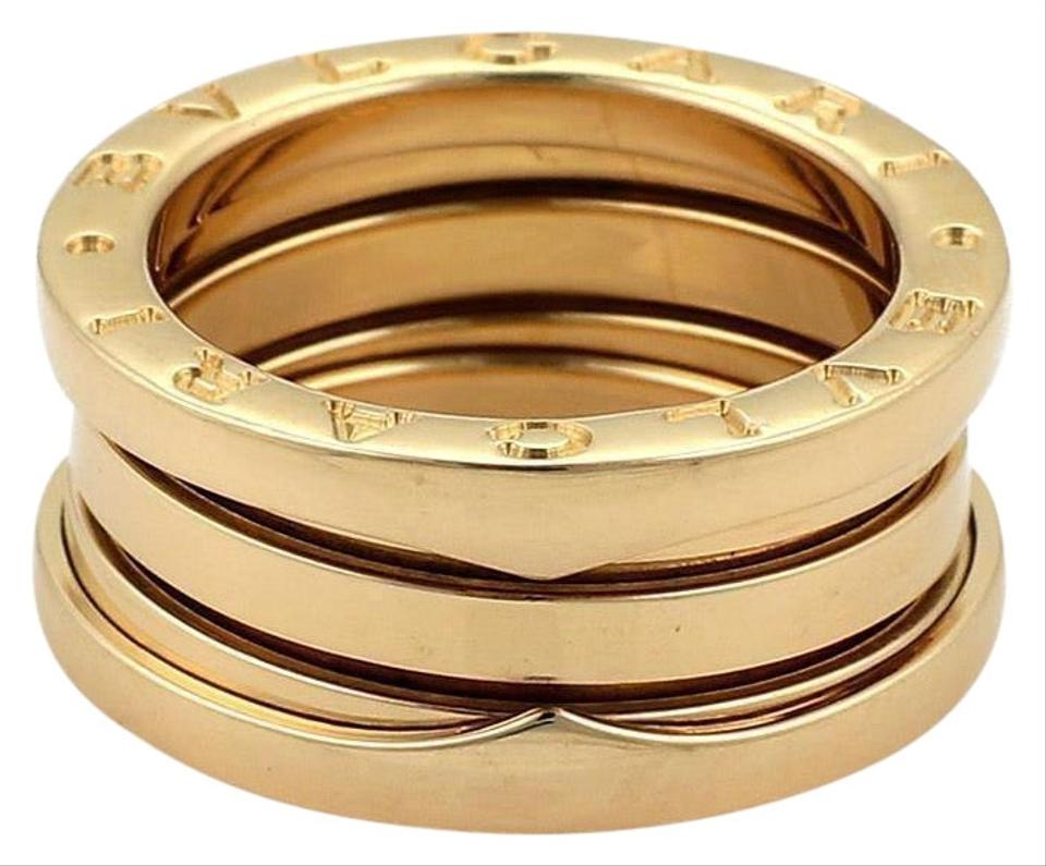 25c48319a241b BVLGARI Bulgari B Zero-1 18k Yellow Gold 9mm Band Ring Size EU 54- ...